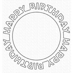 MFT Happy Birthday Circle Frame Die-namics