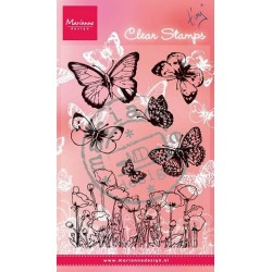 MARIANNE DESIGN CLEAR STAMPS BUTTERFLIES AND POPPIES