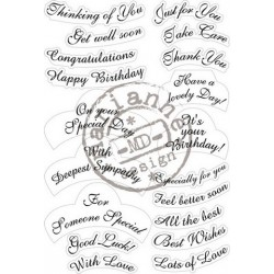 MARIANNE DESIGN CLEAR STAMPS ANJA'S LABEL Best wishes ENGLISH