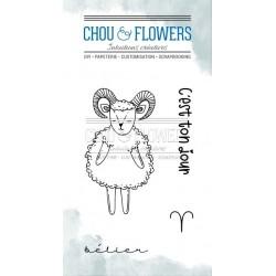 CHOU & FLOWERS TAMPONS CLEAR DOUDOU BELIER DANS LA LUNE