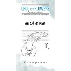 CHOU & FLOWERS TAMPONS CLEAR DOUDOU SCORPION DANS LA LUNE