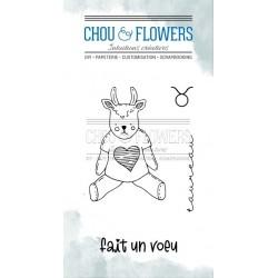 CHOU & FLOWERS TAMPONS CLEAR DOUDOU TAUREAU DANS LA LUNE