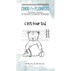 CHOU & FLOWERS TAMPONS CLEAR DOUDOU VERSEAU DANS LA LUNE