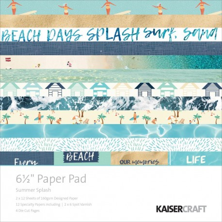 KAISERCRAFT SUMMER SPLASH PAPER PAD 16X16 CM