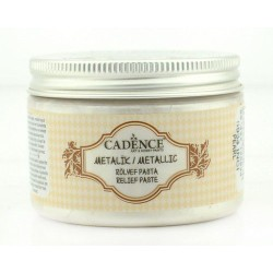CADENCE METALLIC RELIEF PASTE PEARL, 150 ML