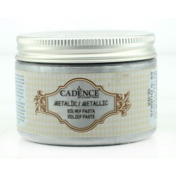 CADENCE METALLIC RELIEF PASTE SILVER, 150 ML