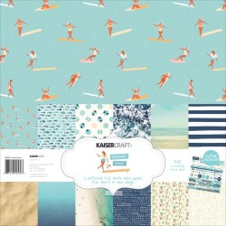 KAISERCRAFT SUMMER SPLASH COLL PACK, 30,5 X 30,5 CM