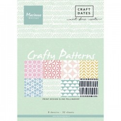 MARIANNE D PAPER PAD CRAFTY PATTERNS, 15x21 cm