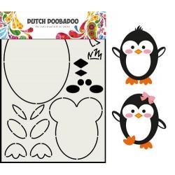 Dutch Doobadoo Card Art Built up PENGUIN A5