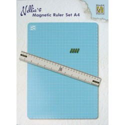 NELLIES CHOICE MAGNETIC CUTTING MAT WITH RULER