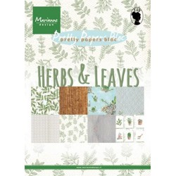 MARIANNE D PAPER PAD HERBS AND LEAVES, 15x21 cm