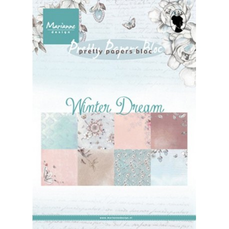 MARIANNE D PAPER PAD WINTER DREAM, 15x21 cm