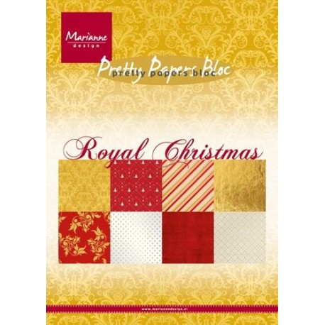 MARIANNE D PAPER PAD ROYAL CHRISTMAS, 15x21 cm