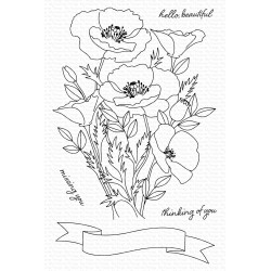 MFT WILD POPPIES CLEAR STAMPS
