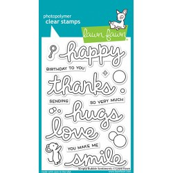 LAWN FAWN CLEAR STAMPS SCRIPTY BUBBLE SENTIMENTS