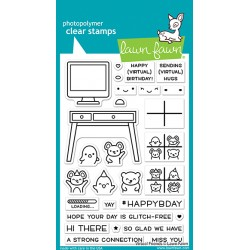 LAWN FAWN CLEAR STAMPS VIRTUAL FRIENDS