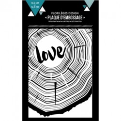 FLORILEGES DESIGN EMBOSSING FOLDER  DE BOIS ET D'AMOUR