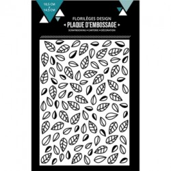 FLORILEGES DESIGN EMBOSSING FOLDER  FEUILLES EMMELEES