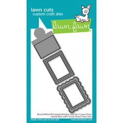 LAWN FAWN DIES REVEAL WHEEL RECTANGLE WINDOW ADD-ON
