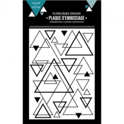 FLORILEGES DESIGN EMBOSSING FOLDER MIX DE TRIANGLES