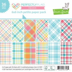 LAWN FAWN PERFECTLY PLAID REMIX PAPER PAD