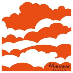 Marianne D Embossing folder Clouds DF3434 12.5X12.5 CM