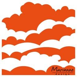 Marianne D Embossing folder Clouds DF3434 12.5X12.5 CM