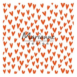 Marianne D Embossing folder Trendy hearts ENV. 15 X 15 CM
