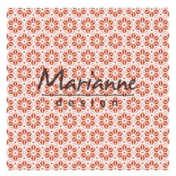 Marianne D Embossing folder 3D JAPANESE STAR 14.1 X 14.1 CM
