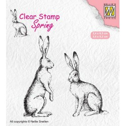 Nellies Choice Clearstamp - Two hares