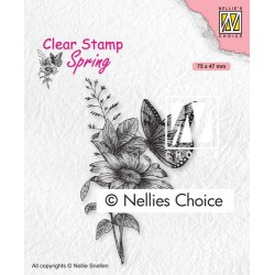 Nellies Choice Clearstamp - Butterfly