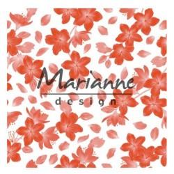 Marianne D Embossing folder 3D BLOSSOM 14.1 X 14.1 CM