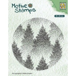 Nellies Choice Christmas Silhouette Clearstamp - Misty Forest