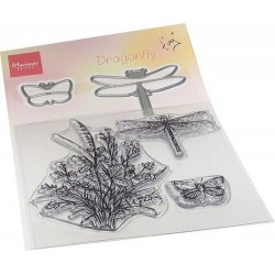 Marianne D Clear Stamp & die set Tiny's Dragonfly