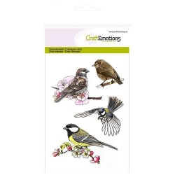 CRAFTEMOTIONS Clear Stamps spring birds