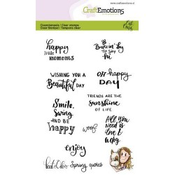 CRAFTEMOTIONS Clear Stamps Spring Quotes