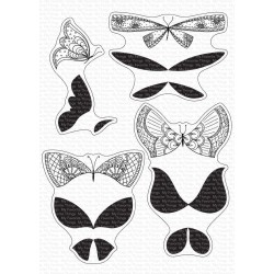 MFT MORE BRILLIANT BUTTERFLIES CLEAR STAMPS