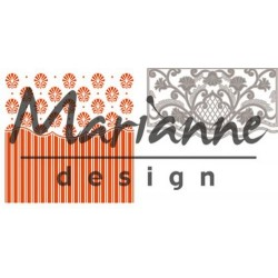 Marianne D Embossing folder + die ANJAS ORNAMENTAL