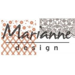 Marianne D Embossing folder + die ANJAS FLOWER