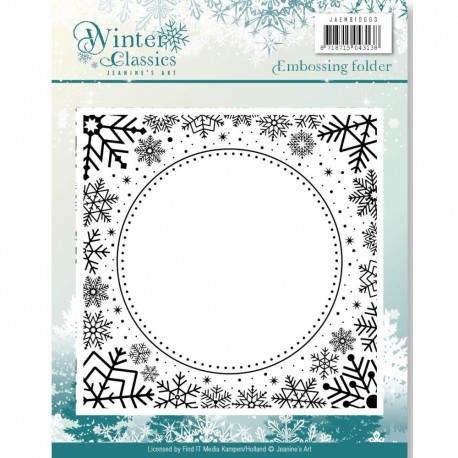 FIND IT TRADING WINTER CLASSICS JEANINE ART DIES, CHRISTMAS CLASSICS, EMBOSSING FOLDER ENV. 13X13CM