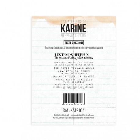 """LES ATELIERS DE KARINE """"BIENVENUE CHEZ MOI"""" Tampon Clear TEXTE"""