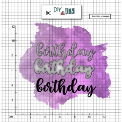 DIY and Cie Set die et tampon : Birthday