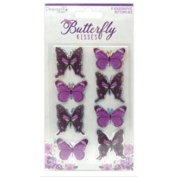 DOVECRAFT BUTTERFLY KISSES - BUTTERFLY TOPPERS 8 STK