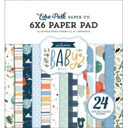 ECHO PARK PAPER WELCOME BABY BOY PAPER PAD 15x15cm