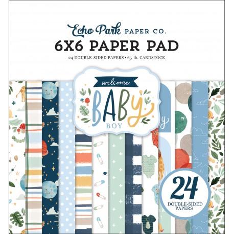 ECHO PARK PAPER WELCOME BABY BOY PAPER PAD 15x15cm