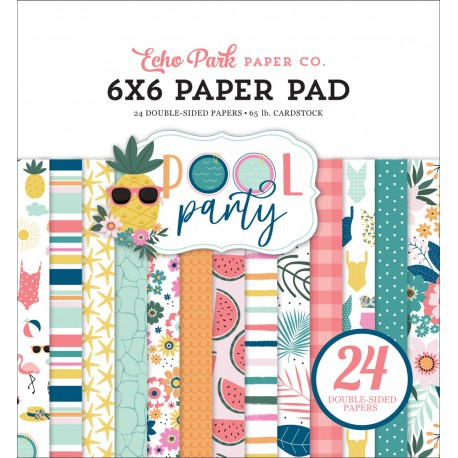 ECHO PARK PAPER PARTY POOL PAPER PAD 15x15cm