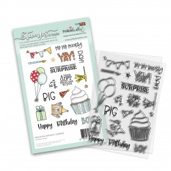 POLKADOODLES BIG BIRTHDAY SURPRISE CLEAR STAMPS