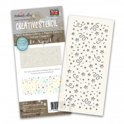 POLKADOODLES SLIMLINE STENCIL CELEBRATION BACKGROUND