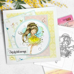 POLKADOODLES SERENITY DAISY DANCE CLEAR STAMPS