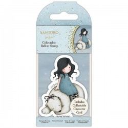 GORJUSS MINI RUBBER STAMP WINTER FRIEND 78
